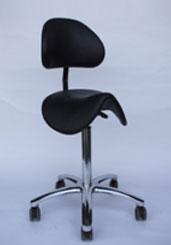 Zadelkruk Met Rugleuning.Trippelstoel